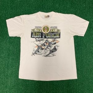 Vintage Lee Sport Air Force Tee Size Large 90s